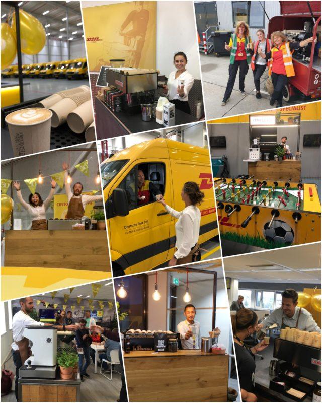 13 koffiebars voor 50 jaar DHL