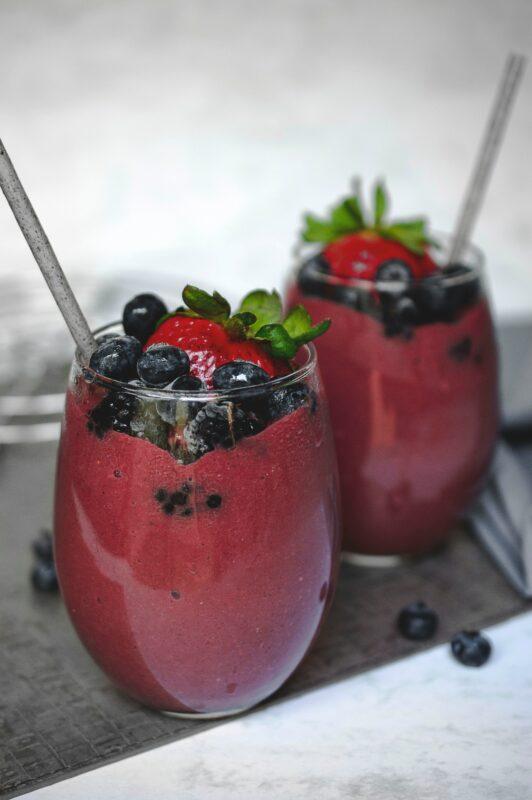 Smoothiefiets huren, rood fruit